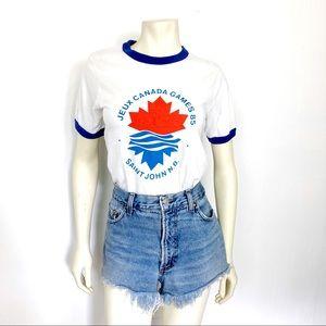 Vintage 80s t-shirt Saint John Canada Games white